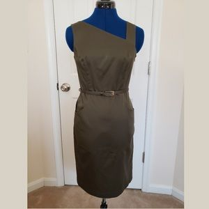 Asymetrical Neckline Shift Dress